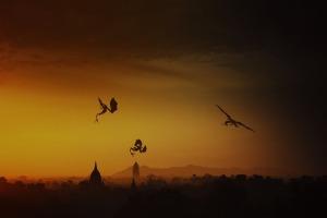 dragons-at-sunset